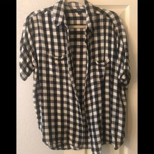 Madewell Bufffalo Check Short Sleeve Flannel